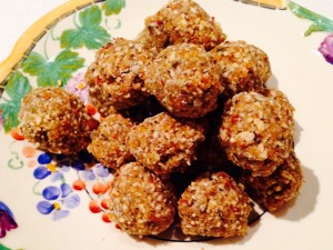 apricot and maca seed protein balls