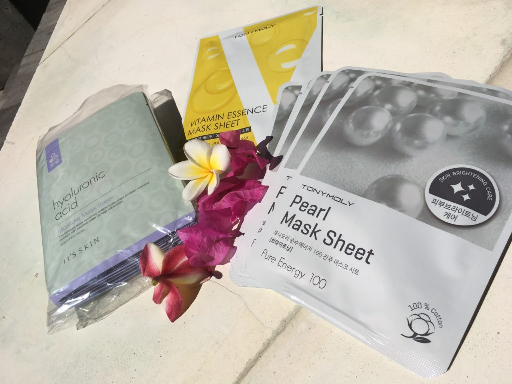 South Korean skincare mask sheets