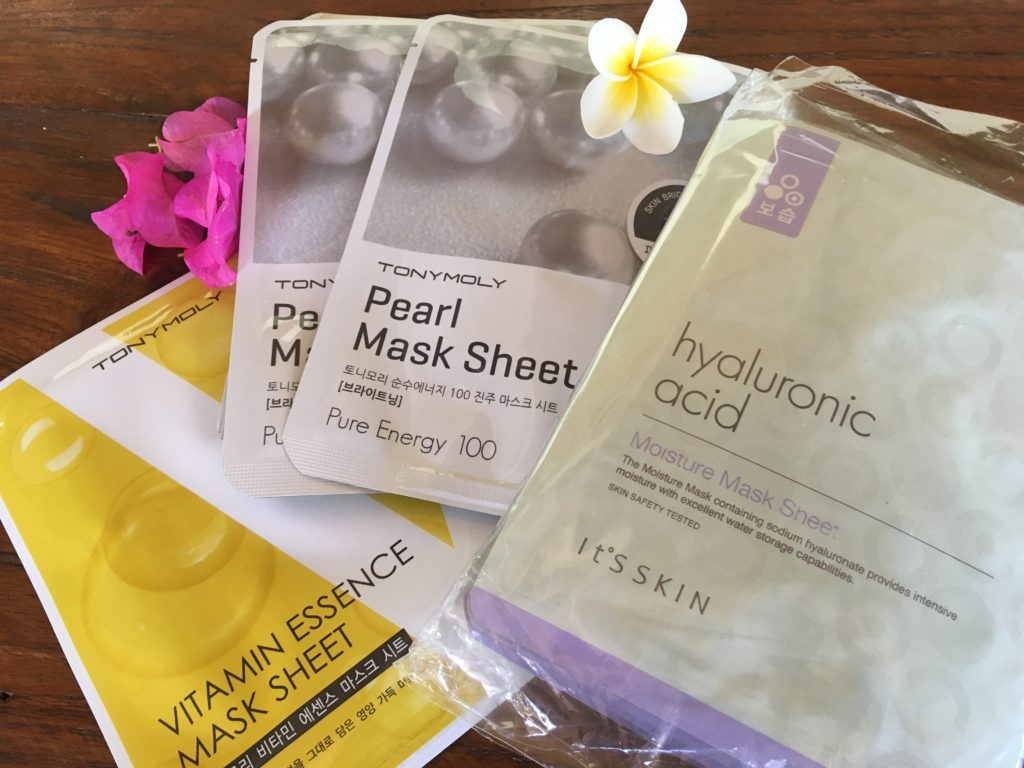 South Korean face mask sheets